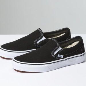 Women's Vans Black Slip-On Shoe Size 6.5